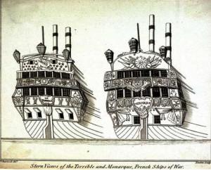 Navíos franceses Terrible y Monarca