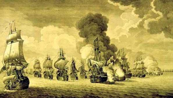 Batalla naval de Tolón, en 1744l