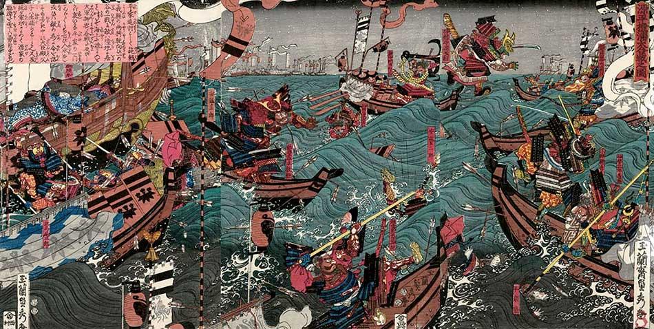 Primeras batallas navales de Japón