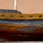 Vista de costado de la fragata Nuestra Señora de la Soledad