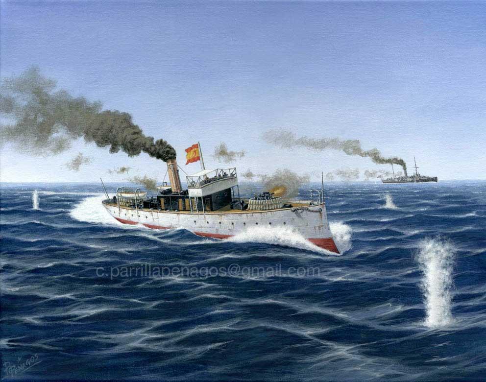 Combate en Cienfuegos durante la Guerra de Cuba de 1898