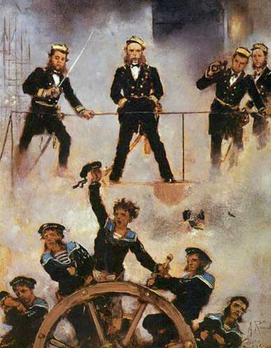 La batalla de Lissa, por Anton Romako 1880