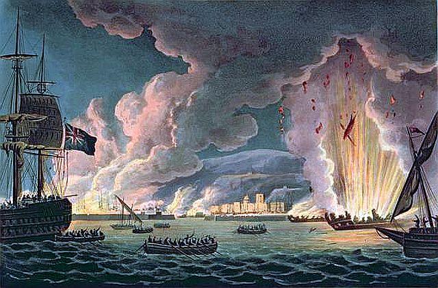 Destrucción de la flota francesa de Tolón en 1793