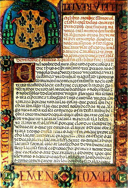 manuscrito el vectorial que cuenta las hazañas de Pero Niño