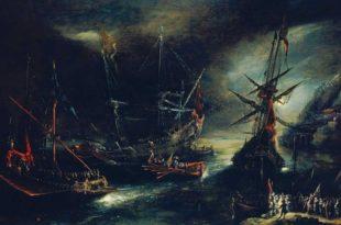 Embarco de tropas españolas en el Mediterráneo