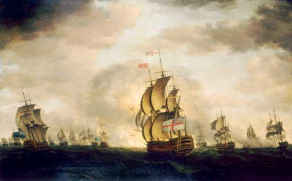Escuadra británica navegando