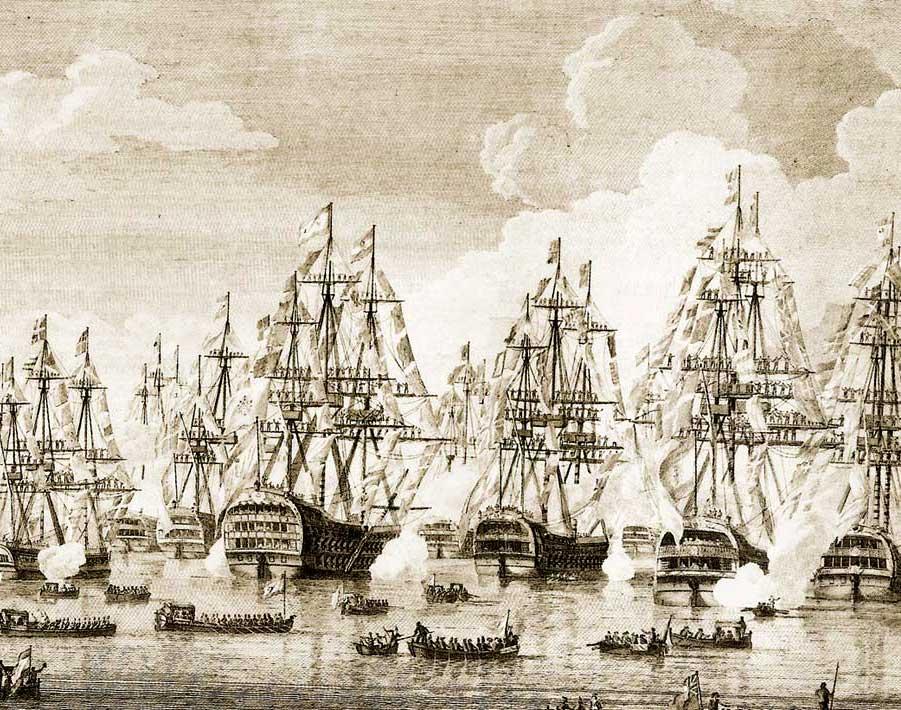 Escuadra española en Livorno, en 1794