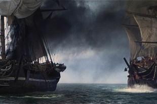 Fragata de guerra haciéndose pasar por mercante