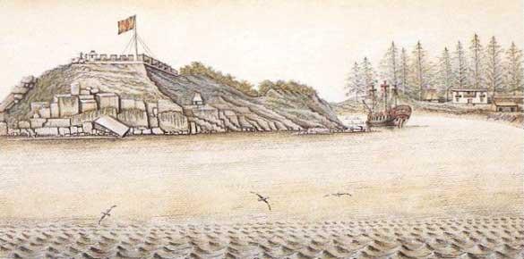 Al oeste de la Isla Vancouver se encontraba la isla de Nutka, donde los españoles tenían un asentamiento.