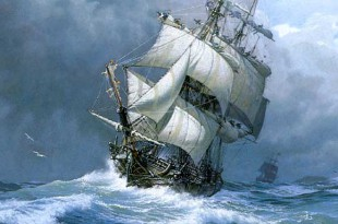 Buque navegando