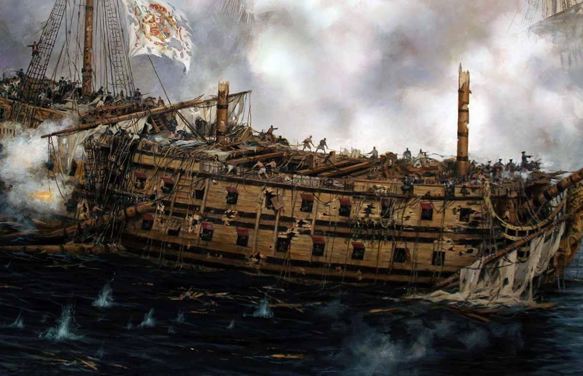 El último combate del navío Glorioso