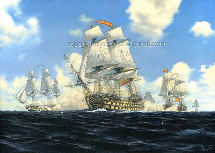 Navío Mexicano en la batalla del cabo de San Vicente, 1797