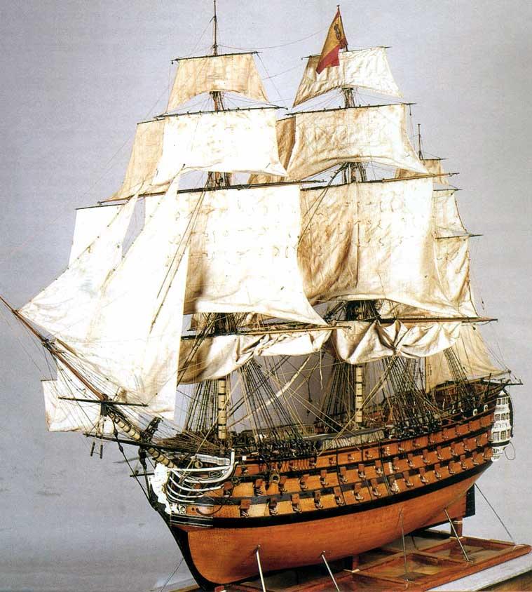 Maqueta del navío de línea Real Borbón