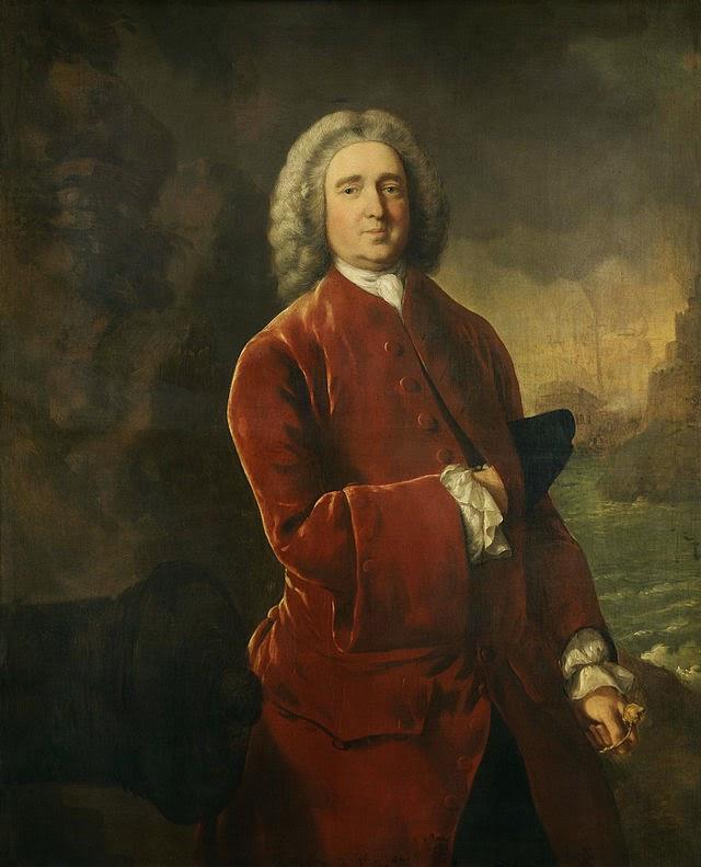 Edward Vernon por Thomas Gainsborough