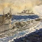 Submarino G7 y destructor Valdes