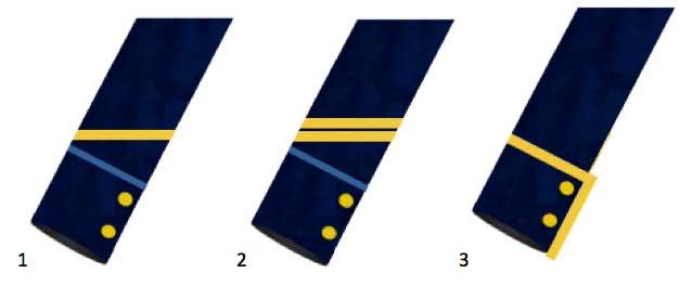 insignias de suboficiales de la marina francesa