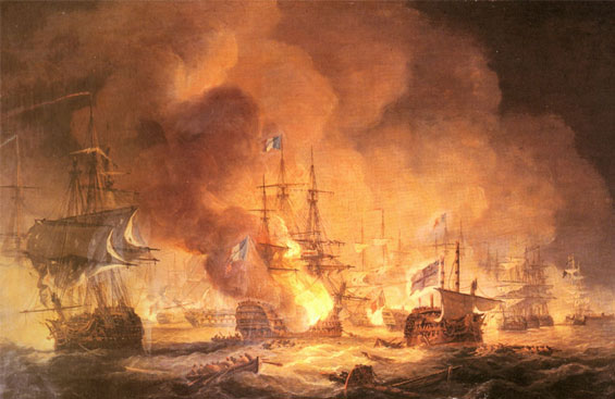 Explosion del navio l'orient