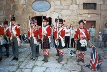 Fuerzas británicas de la época en el momento de la recreación