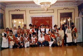 organizadores de la recreación del 200 aniversario de la Batalla