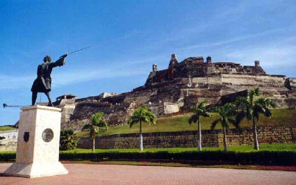Monumento a Lezo en Cartagena de Indias.