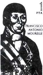 Sello conmemorativo a la figura de Mourelle de la Rúa.