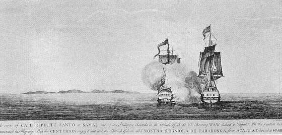 Combate del Navío Nuestra Señora de Covadonga contra el Centurion de Anson