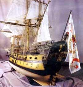 Maqueta del navío Nuestra Señora del Pilar.