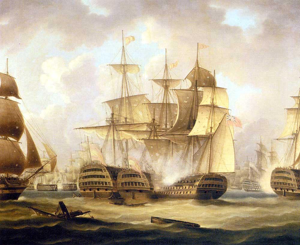 El navío Captain junto con los navíos San José y San Nicolás