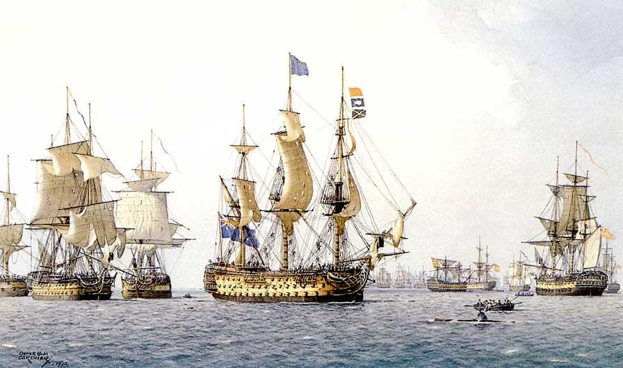 El Victory al final de la batalla del Cabo de San Vicente