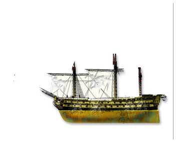 Daños materiales en el Navío San Isidro en la batalla de San Vicente del 14 de febrero de 1797