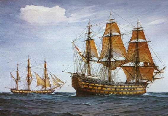 Navío HMS Victory en 1805