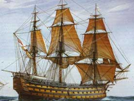 Navio Victory navegando