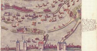 Plano de la época sobre la batalla de Empel