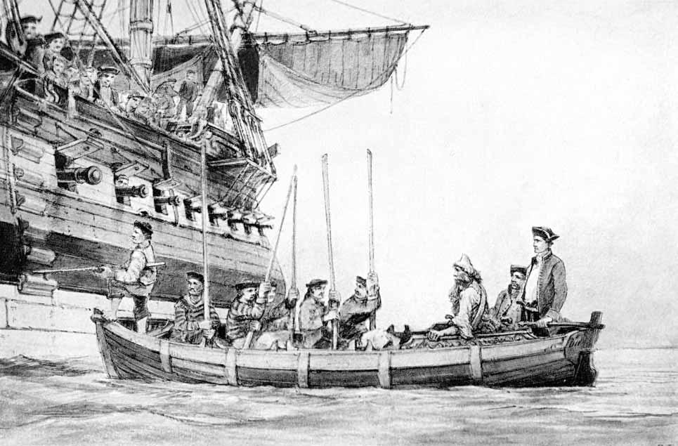 Abordando una fragata