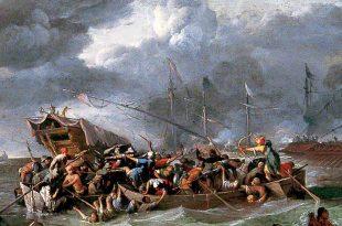 Una batalla naval entre cristianos y turcos