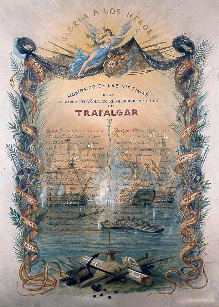 Alegoría de la batalla de Trafalgar.