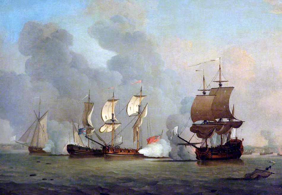 Apresamiento de un buque corsario francés