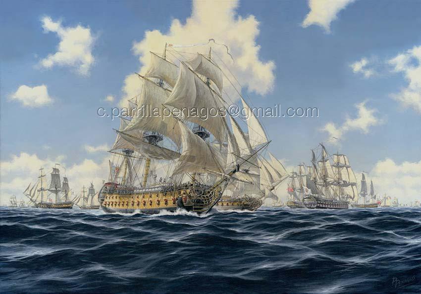 Apresamiento del convoy británico por la escuadra de Luis de Córdoba en 1780