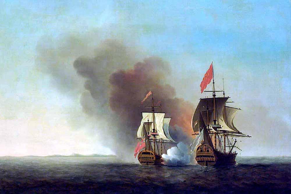 Apresamiento del Covadonga por el navío Centurion