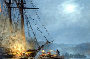 Ataque a un bergantín del siglo XVIII