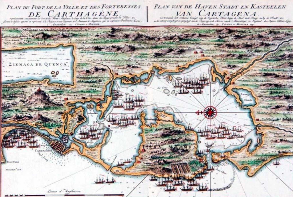 Ataque a Cartagena de Indias en 1741