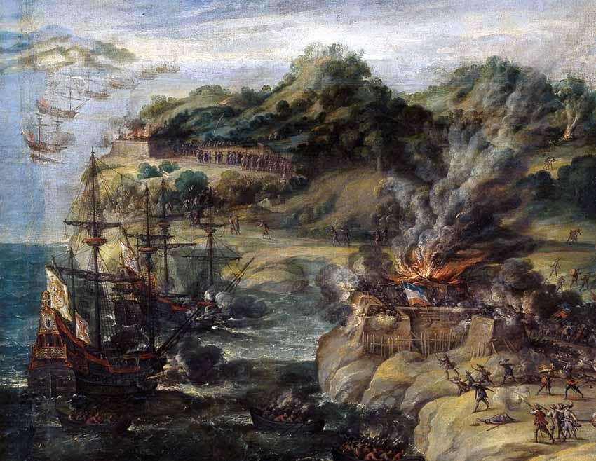 Ataque a la Isla de San Cristóbal por parte de la flota de don Fadrique