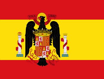 Bandera de España durante la dictadura de Franco
