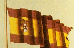 Bandera española ganadora del concurso de banderas de Carlos III