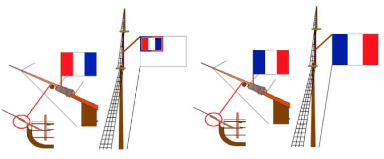 bandera naval Francia 1794