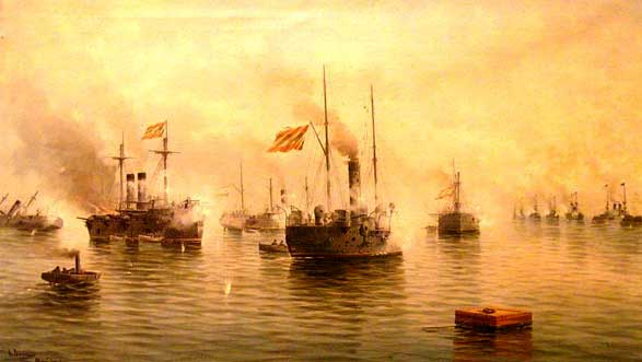 Batalla de Cavite, en 1898