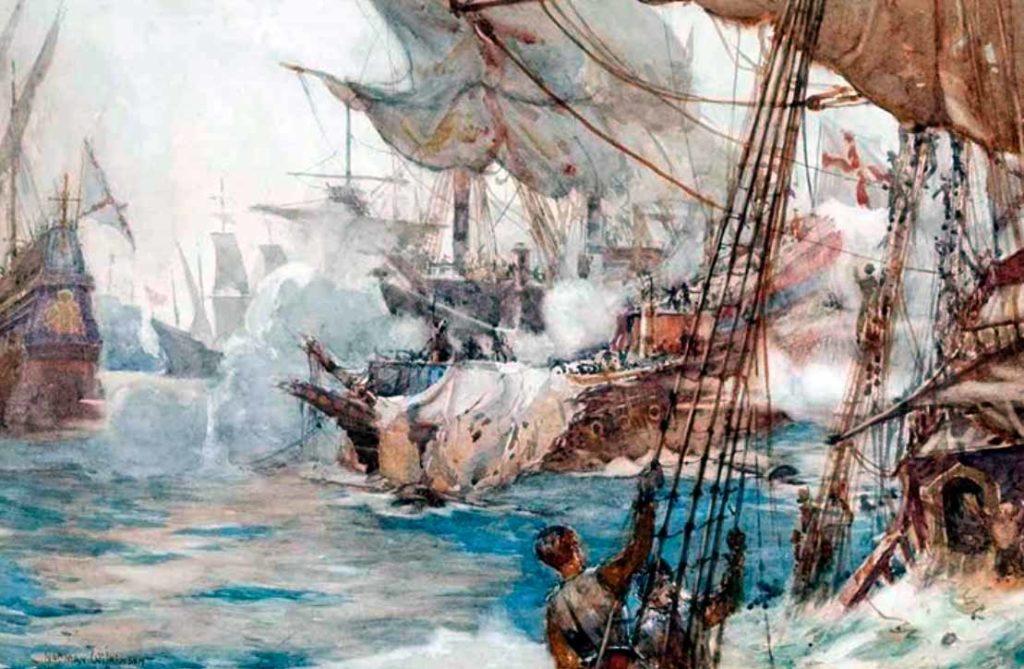La batalla de Flores, 1591: Sir Richard Grenville y la última pelea del H.M.S. Revenge.