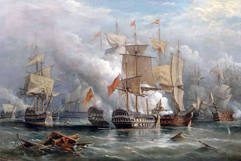 Batalla del Cabo de San Vicente que ocasionó un consejo de guerra a los mandos españoles tras la batalla