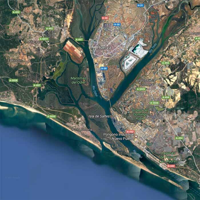 Mapa de la isla Saltés