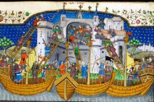 Combate naval medieval
